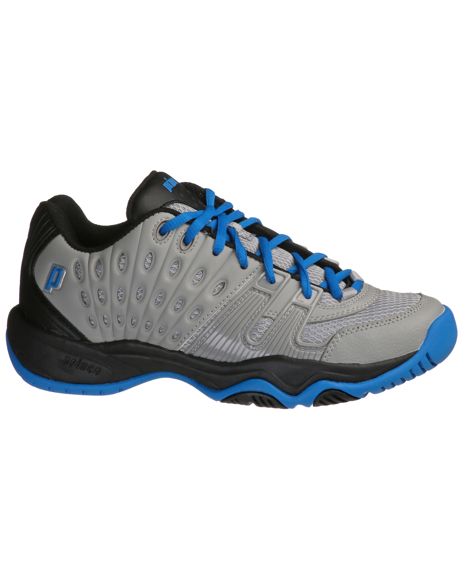 ae63e408c1afe8 Prince Junior T22 Grey Royal Black Tennis Shoe – SGS